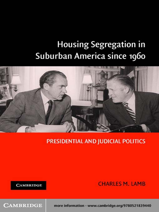 Title details for Housing Segregation in Suburban America since 1960 by Charles M. Lamb - Available
